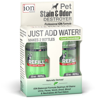 Our Refill Pack of the Pet Stain & Odor Destroyer with 2 Refills.