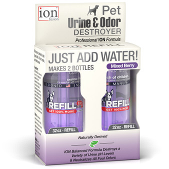 Our Refill Pack of the Pet Urine & Odor Destroyer with 2 Refills.