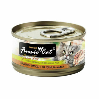 Fussie Cat Premium Tuna with Smoked Tuna Formula in Aspic 2.82oz