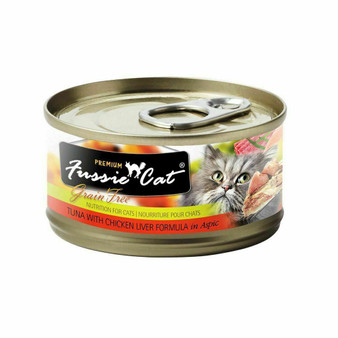 Fussie Cat Premium Tuna with Chicken Liver Formula in Aspic 2.82oz