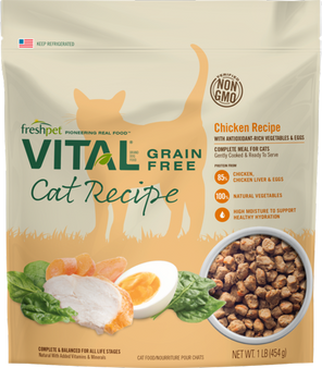 Freshpet Vital Grain Free Complete Meals for Cats 1 LB