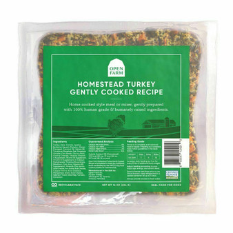 Homestead Turkey Gently Cooked Dog Food | Open Farm