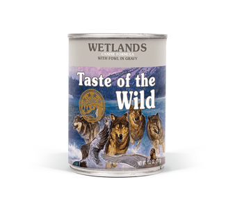 Taste Of The Wild  Wetlands Canine Formula with Fowl in Gravy 13oz Can Dog Food