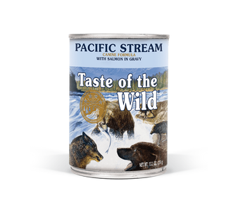Taste Of The Wild Pacific Stream Canine Formula with Salmon in Gravy 13oz Can Dog Food
