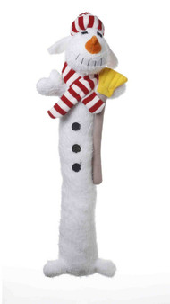 This 18 inch Plush Loofa Snowman has a squeaker