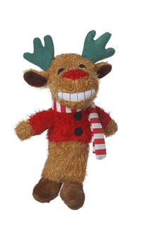 This 6 inch Loofa Reindeer has a Squeaker