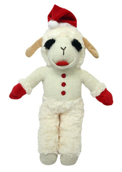 This 13 inch Standing Lamb Chop that squeaks is a great plush toy for dogs.