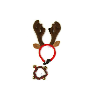 Turn your average everyday pup into a festive friend with the Bell Collar & Holiday Antlers combo pack. Perfect for holiday parties & furmly pictures, these festive pet accessories are made with comfortable, soft plush material and fits most large size dogs. Deck the dogs with Outward Hound Holiday Apparel!  Santa Paws is coming to town with Outward Hound Holiday! Our festive toys are durably designed with engaging shapes, sounds & textures to last longer & play harder!