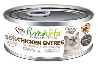 Pure Vita Chicken Entree Canned Cat Food 5.5oz