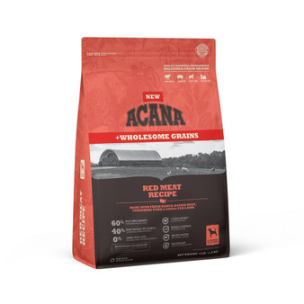 DS ACANA Dog Red Meat with Grains Recipe Front Right 4lbs