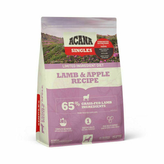 DS ACANA Singles Dog Lamb & Apple Front Right 4.5lbs
