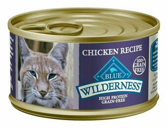Blue Buffalo Wilderness High Protein Grain Free, Natural Adult Pate Wet Cat Food, Chicken