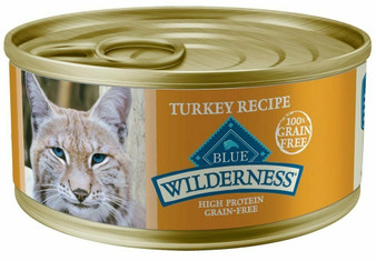Blue Buffalo Wilderness High Protein Grain Free, Natural Adult Pate Wet Cat Food, Turkey