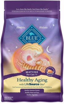 Blue Buffalo Healthy Aging Natural Mature Dry Cat Food, Chicken & Brown Rice