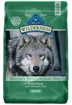 Blue Buffalo Wilderness High Protein Grain Free, Natural Adult Dry Dog Food, Duck