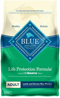 Blue Buffalo Life Protection Formula Natural Adult Dry Dog Food, Lamb and Brown Rice