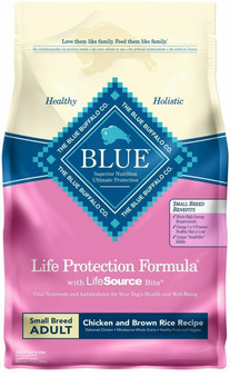 Blue Buffalo Life Protection Formula Natural Adult Small Breed Dry Dog Food, Chicken and Brown Rice