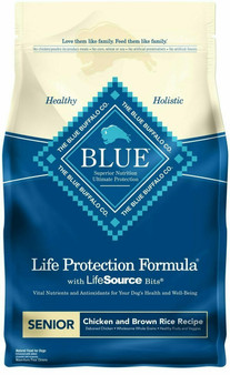 Blue Buffalo Life Protection Formula Natural Senior Dry Dog Food, Chicken and Brown Rice
