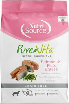 Pure Vita Grain Free Salmon & Peas Dog 5#