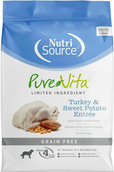 Pure Vita Grain Free Turkey & Sweet Potato Dog 5#