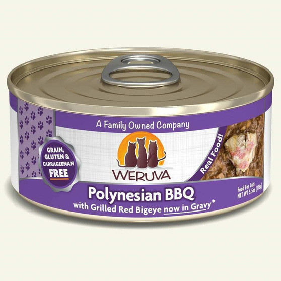 Weruva Classic Cat Food, Polynesian BBQ with Grilled Red Bigeye in Gravy, 5.5oz Can