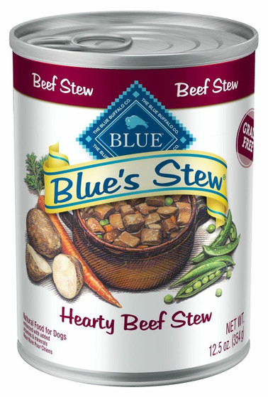 Blue Buffalo Blue's Stew Natural Adult Wet Dog Food, Beef Stew 12.5-oz cans