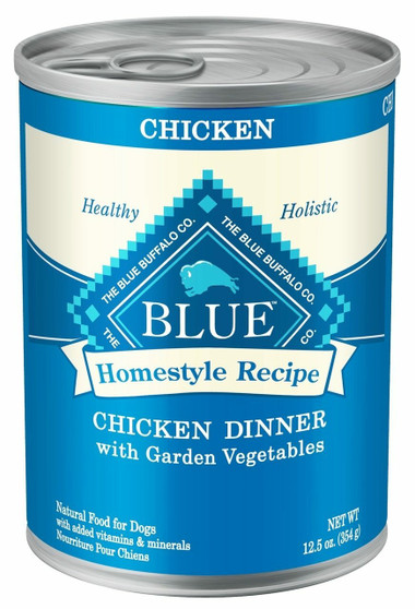Blue Buffalo Homestyle Recipe Natural Adult Wet Dog Food, Chicken 12.5-oz cans