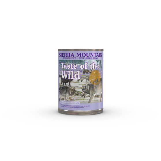 Taste Of The Wild Sierra Mountain Canine Recipe with Lamb in Gravy 13oz Can Dog Food
