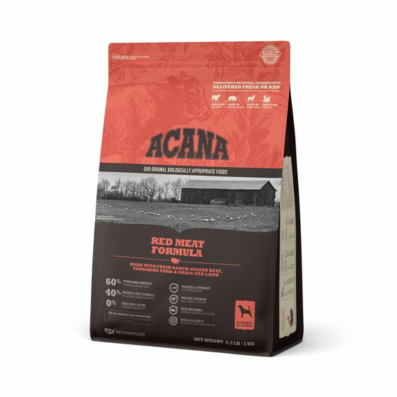 DS ACANA Dog Red Meat Recipe Front Right 4.5lbs