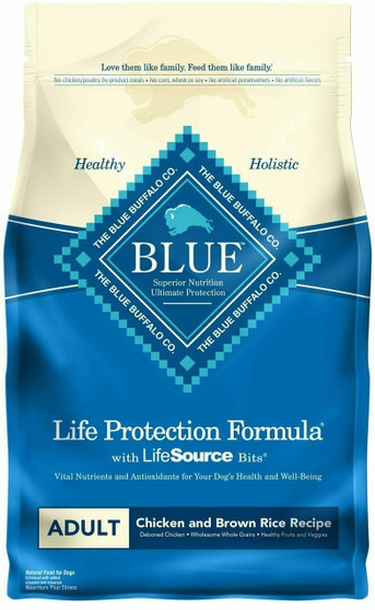 Blue Buffalo Life Protection Formula Natural Adult Dry Dog Food, Chicken and Brown Rice