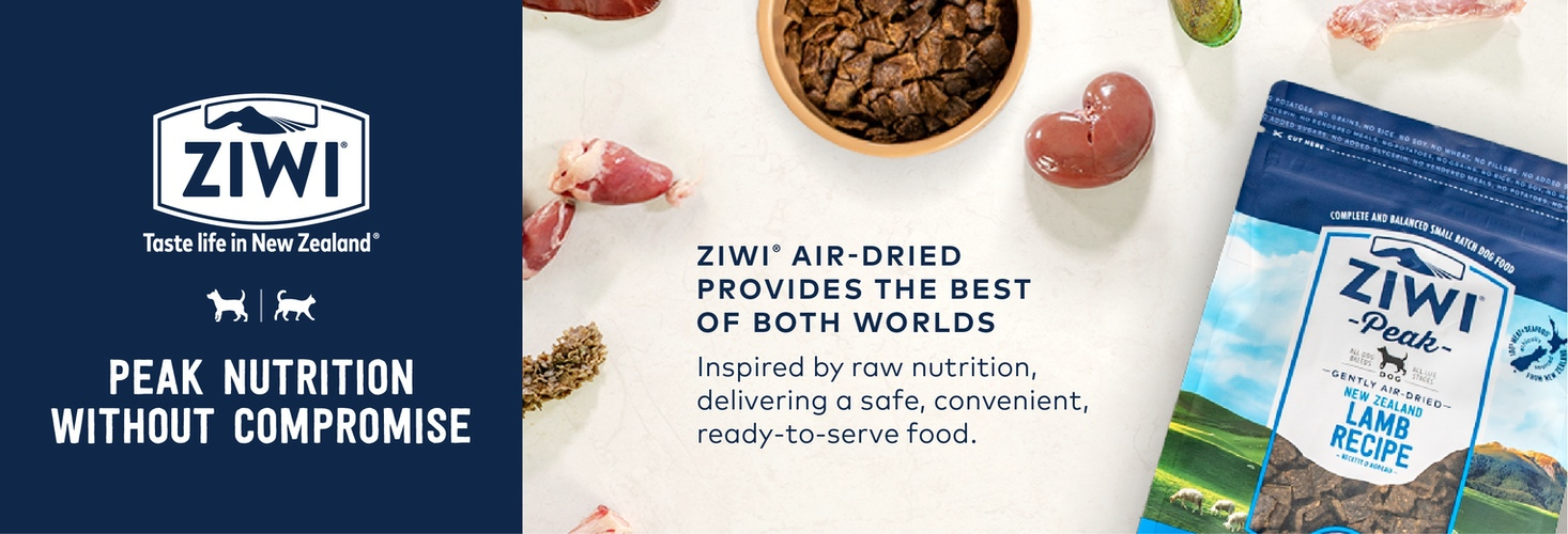 Ziwi air-dried provides the best of both worlds. Inspire by raw nutrition, delivering a safe, convenient, ready-to-serve food.