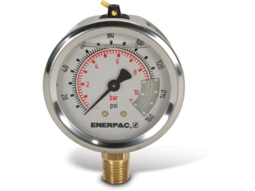 "G2510L Enerpac Gauge, 2-1/2"" 0-160 PSI"