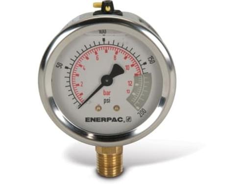 "G2511L Enerpac Gauge, 2-1/2"" 0-200 PSI"