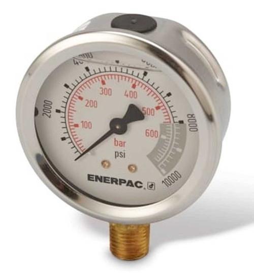 "G2535L (G-2535L) Enerpac Pressure Gauge, 2-1/2"", 10,000 PSI"