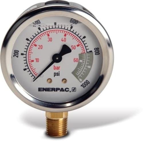 "G2536L Enerpac Gauge, 2 1/2"" 0-15,000 PSI"
