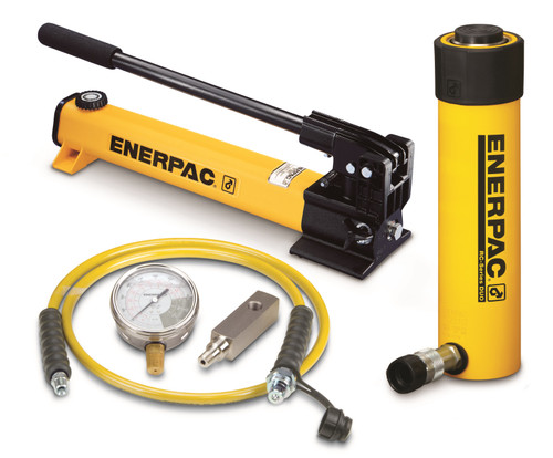 SCR-254H Enerpac Cylinder Pump Set, 25 Ton