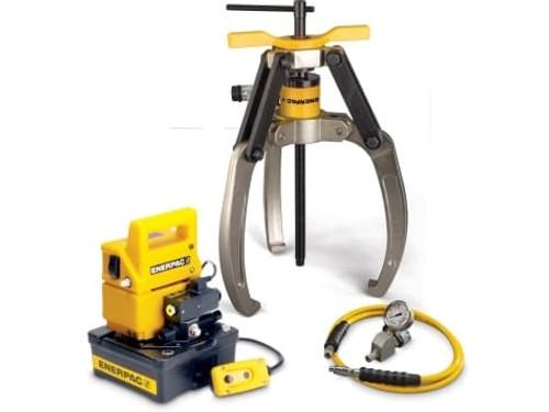 Puller, Lock Grip Hyd Set, 3J, 24T, E Pump, 115V
