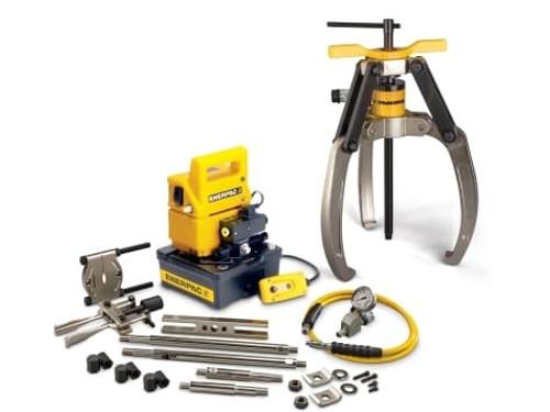 Puller, Lock Grip Hyd M Set, 3J, 24T, E Pump, 230V