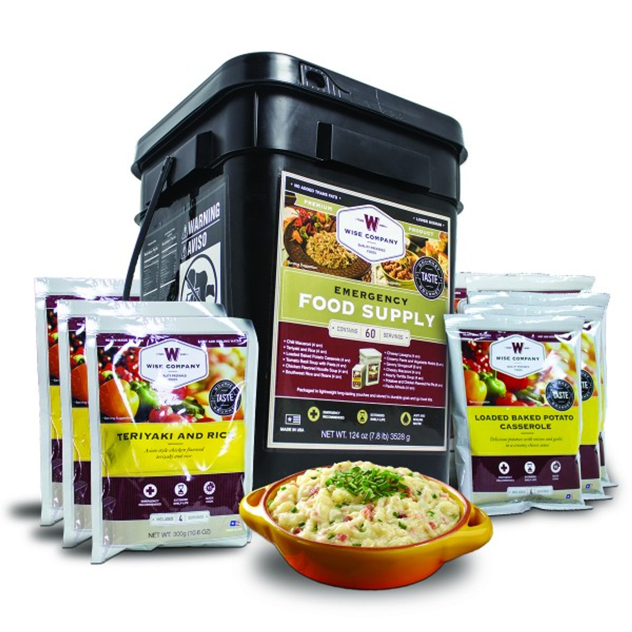 Wise 60 Serving Entree Emergency Food Supply for 1 Person