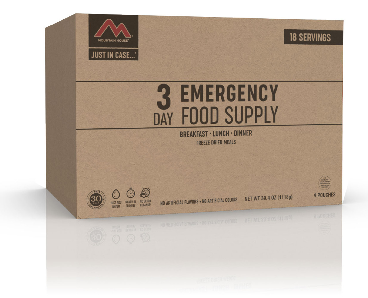 """Mountain House 3-Day """"Just-in-Case"""" Emergency Food Supply"""
