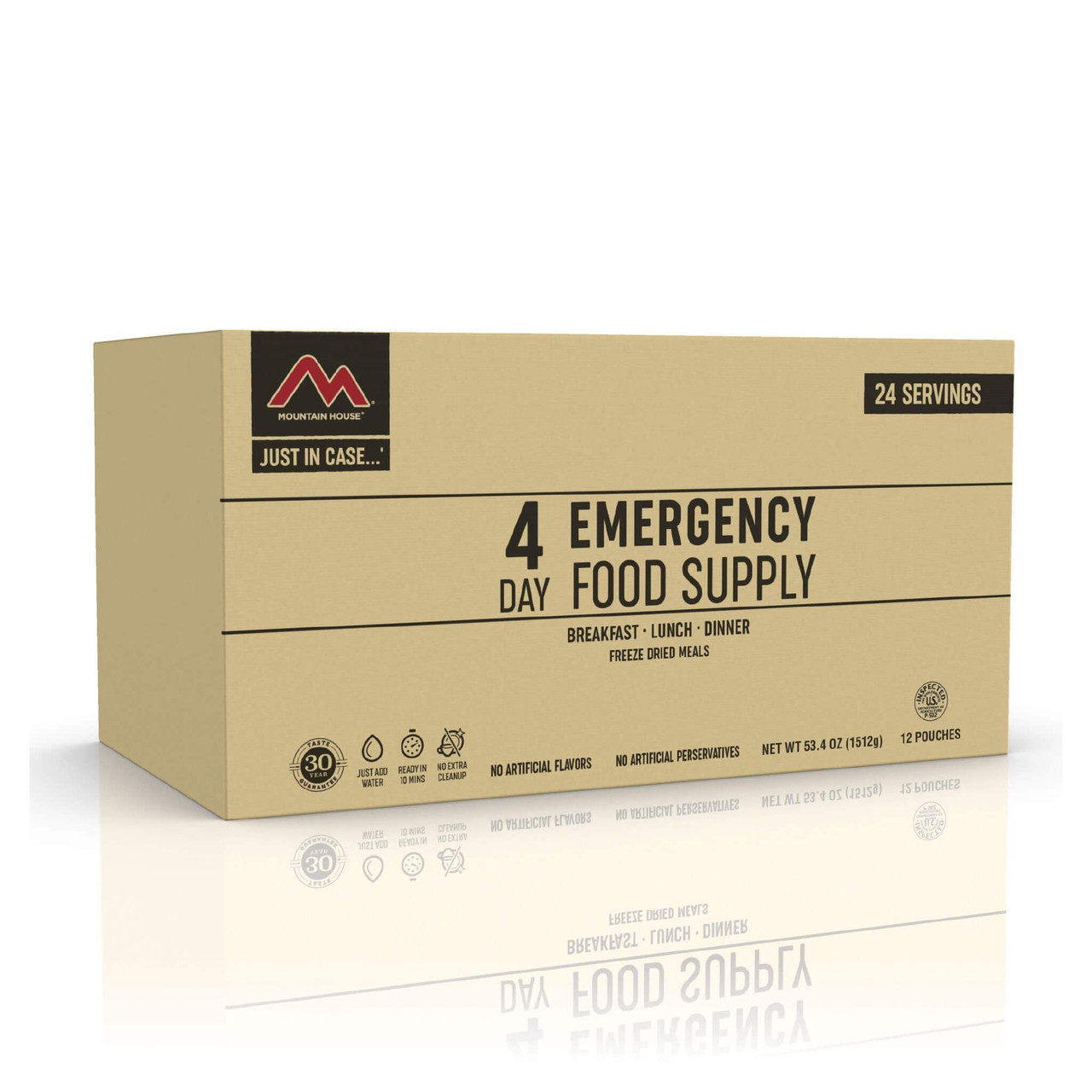 """Mountain House 4-Day """"Just-in-Case"""" Emergency Food Supply"""