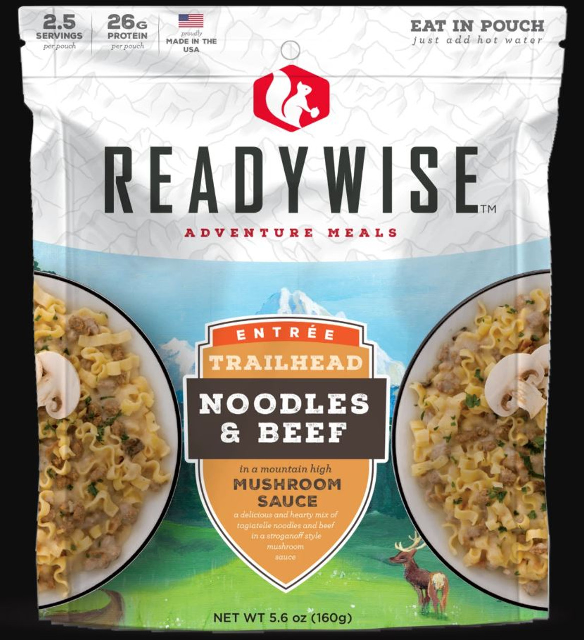 Wise Foods Noodles in Mushroom Sauce with Beef - 2 Serving Outdoor Pouch