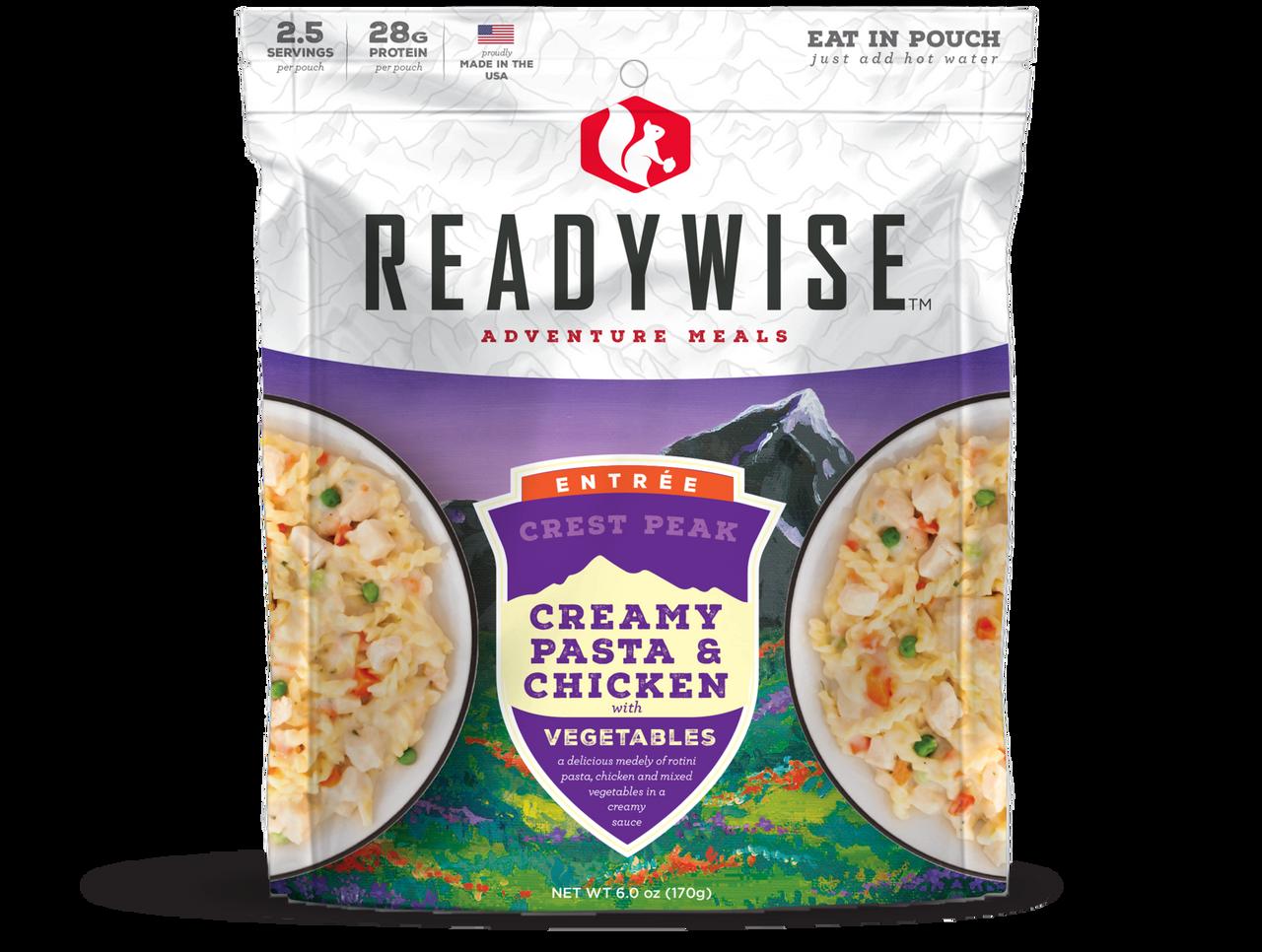 Wise Crest Peak Creamy Pasta & Chicken - 2 Serving Outdoor Pouch