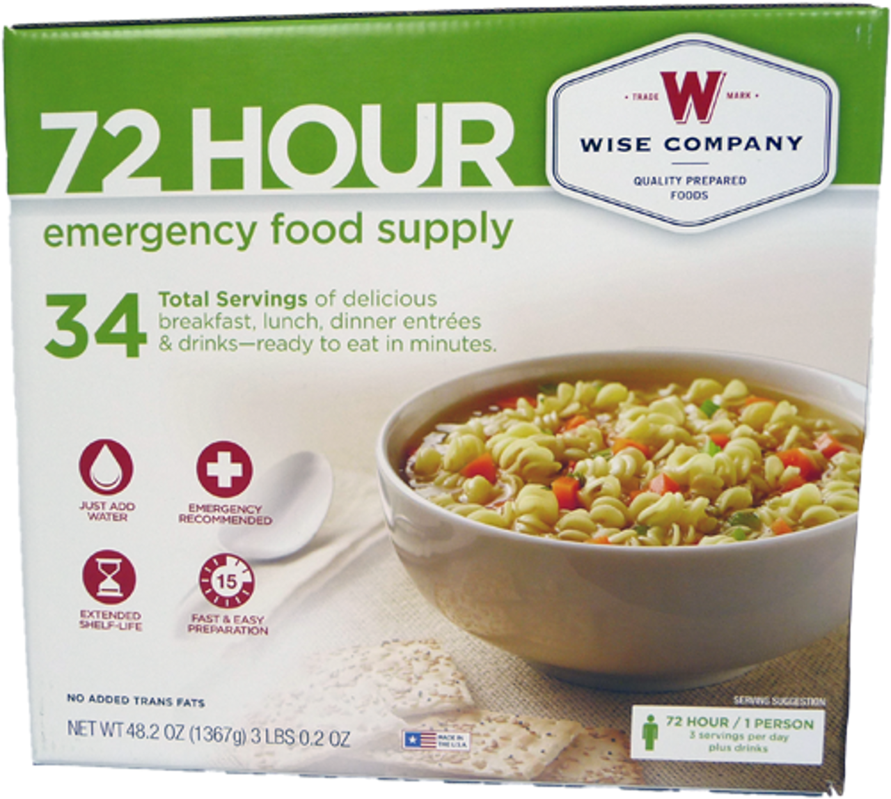 Wise Foods 72 Hour Emergency Food Supply for 1 Person