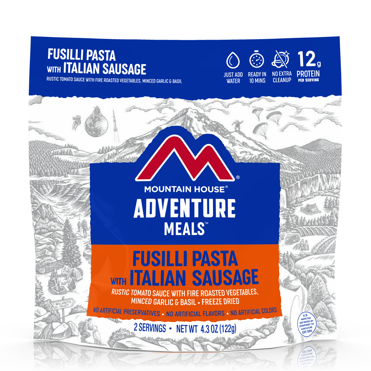 Mountain House Fusilli Pasta with Italian Sausage Pouch **LIMITED RELEASE**
