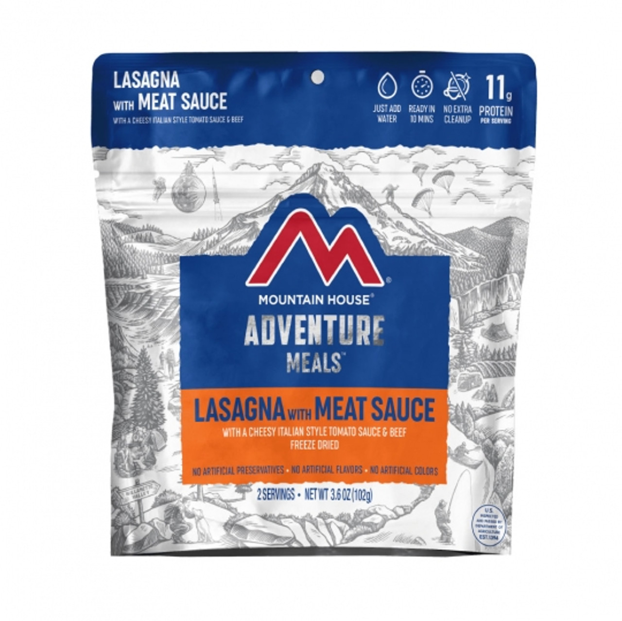 Mountain House Lasagna with Meat Sauce Pouch