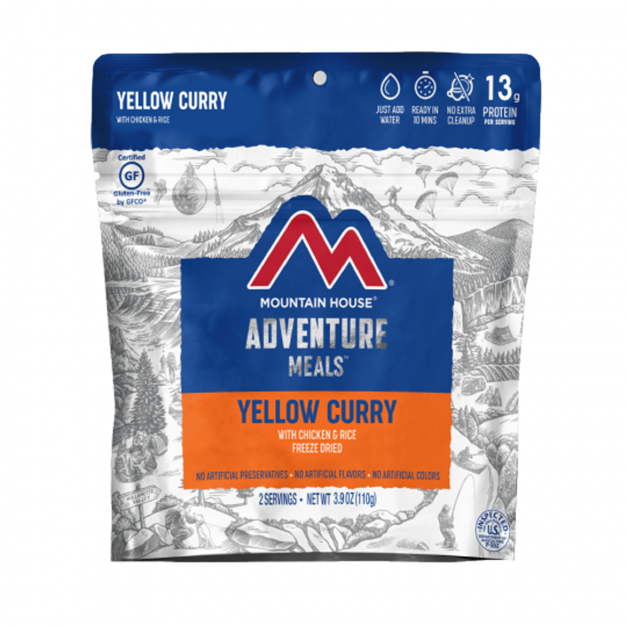 Mountain House Yellow Curry with Chicken & Rice Pouch (Gluten Free)