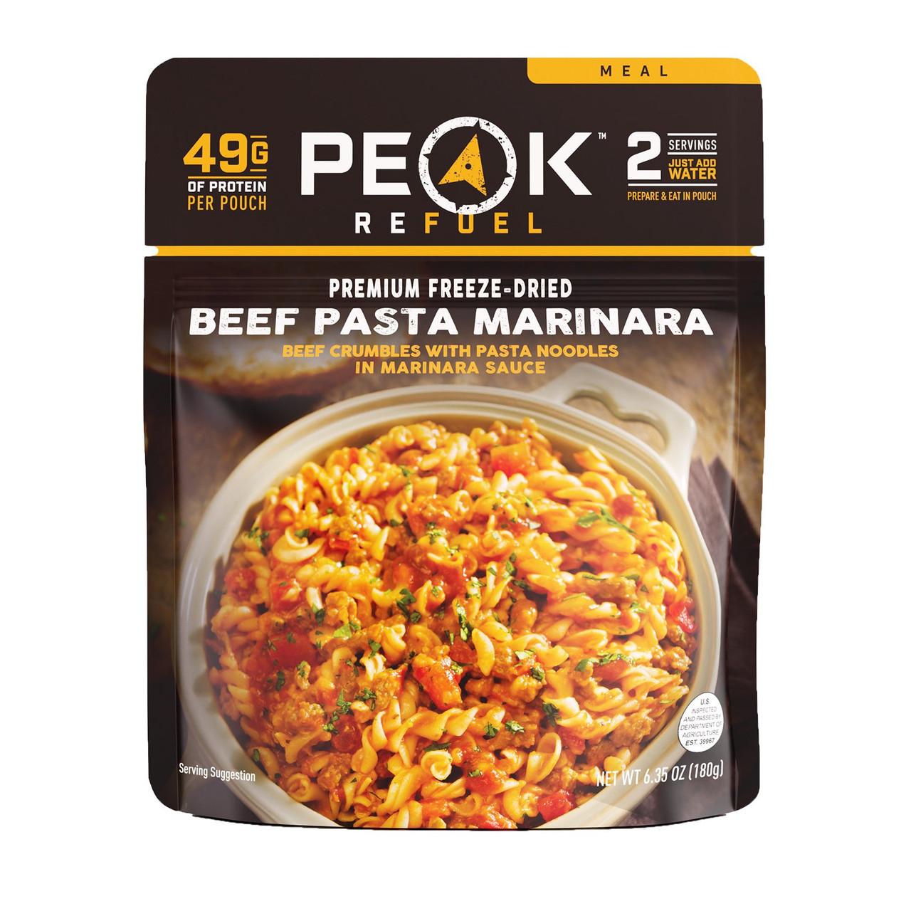 Peak Refuel Beef Pasta Marinara