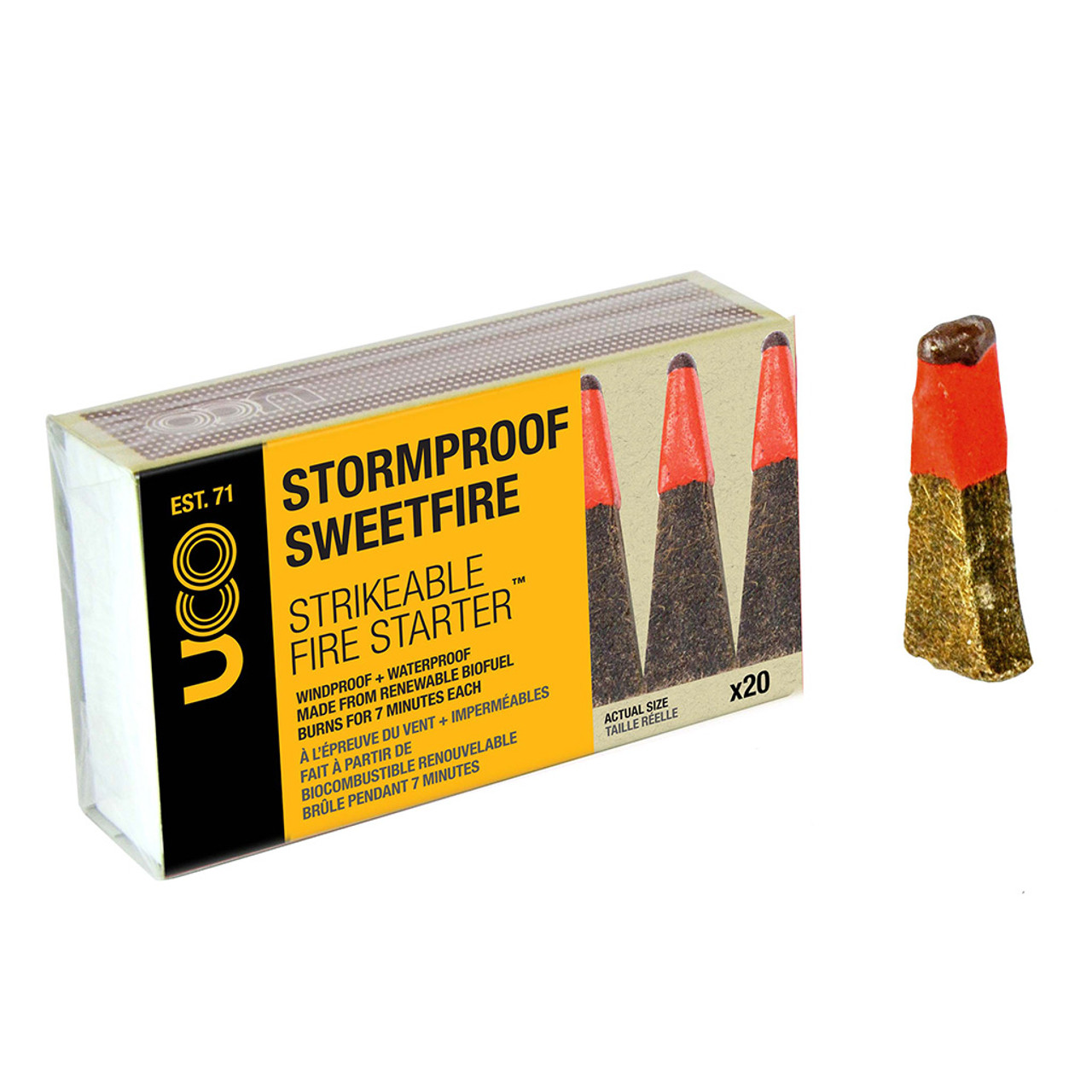 Storm Proof Sweet Fire - Strikable Matches - 20 PACK