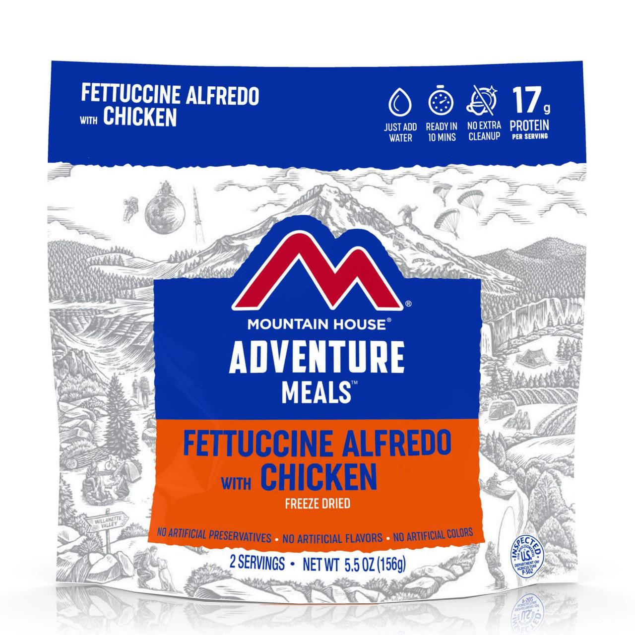 NEW 2021 Mountain House Fettuccine Alfredo w/ Chicken